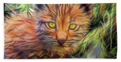 Lynx Kitten - Square Version Beach Towel