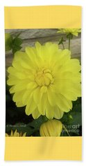 M Shades Of Yellow Flowers Collection No. Y90 Beach Towel