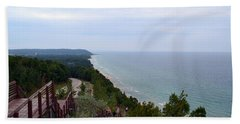 M22 Scenic Lake Michigan Overlook  Beach Towel