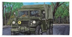 M37 Truck 3bam Beach Towel by Reb Frost