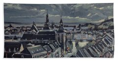 Maastricht By Moon Light Beach Towel