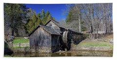 Mabry Mill Late Fall Beach Towel