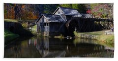 Beach Towel featuring the photograph Mabrys Mill On The Blue Ridge by B Wayne Mullins