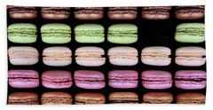Beach Towel featuring the photograph Macarons - One Missing by Nikolyn McDonald