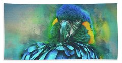 Beach Towel featuring the photograph Macaw Magic by Brian Tarr