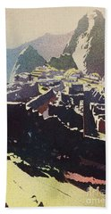 Machu Picchu Morning Beach Towel