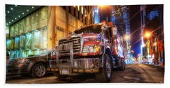 Mack Truck Nyc Beach Towel