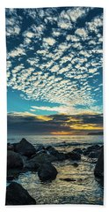 Beach Towel featuring the photograph Mackerel Sky by Dan McGeorge