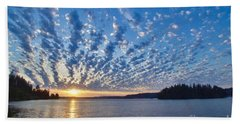 Mackerel Sky Beach Towel