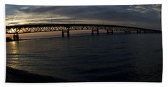 Mackinac Bridge Beach Sheet by Tara Lynn