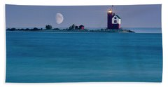 Mackinac Moon Beach Towel