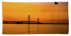 Mackinaw Sunset  Beach Towel