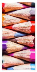 Macro Coloured Pencil Crossover Beach Towel