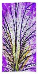 Macro Iris Petal Beach Towel