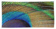 Macro Peacock Feather Beach Towel
