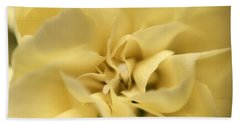 Macro Yellow Rose Beach Towel