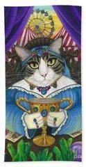 Madame Zoe Teller Of Fortunes - Queen Of Cups Beach Towel