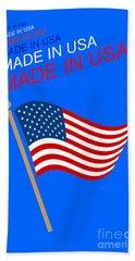 Made In Usa Beach Towel