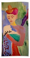 Beach Sheet featuring the painting Madeline by Bill OConnor