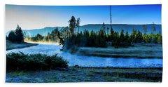 Madison River Yellowstone At Dawn Beach Sheet