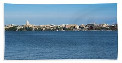 Madison Skyline From Picnic Point Beach Towel