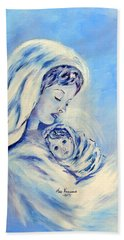Madonna And Child By May Villeneuve Beach Towel