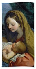Beach Towel featuring the painting Madonna And Child by Carlo Maratta