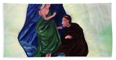 Madonna And Child With St Anthony Beach Towel