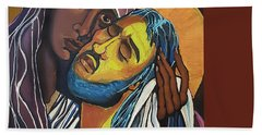 Madonna Of The Streets Beach Towel