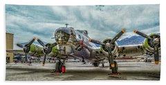 Madras Maiden B-17 Bomber Beach Sheet