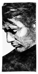 Mads Mikkelsen Beach Towel by Mihaela Pater