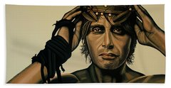 Mads Mikkelsen Painting Beach Towel by Paul Meijering