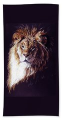 Beach Towel featuring the drawing Maestro by Barbara Keith