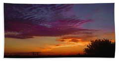 Magenta Morning Sky Beach Towel