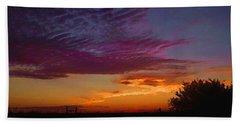Magenta Morning Sky Beach Towel