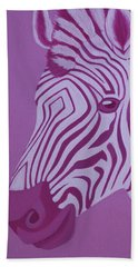 Magenta Zebra Beach Towel