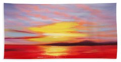 Magic At Sunset Beach Towel