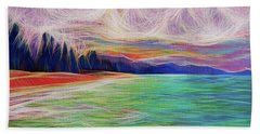 Beach Towel featuring the painting Magic Beach by Angela Treat Lyon