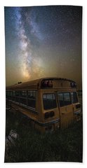 Beach Sheet featuring the photograph Magic Bus by Aaron J Groen