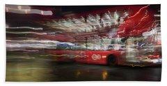 Beach Towel featuring the photograph Magic Bus by Alex Lapidus