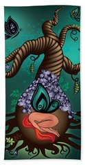 Magic Butterfly Tree Beach Towel by Serena King