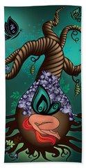 Magic Butterfly Tree Beach Sheet