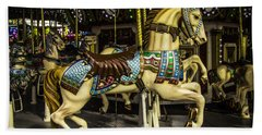 Magic Carrousel Horse Ride Beach Towel