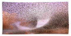 Magic In The Air - Starling Murmurations Beach Sheet by Roeselien Raimond