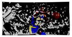 Magic Johnson Bounce Pass Beach Towel