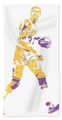 Magic Johnson Los Angeles Lakers Pixel Art 5 Beach Towel