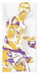 Magic Johnson Los Angeles Lakers Pixel Art 6 Beach Towel