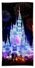 Magic Kingdom Fireworks Beach Towel