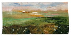 Beach Sheet featuring the painting Magic Marsh by Michael Helfen