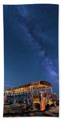 Magic Milky Way Bus Beach Towel